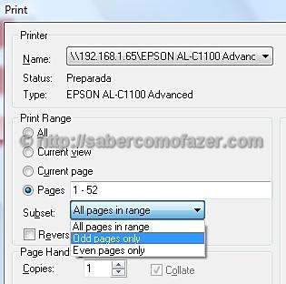 imprimir varias paginas em uma no pdf